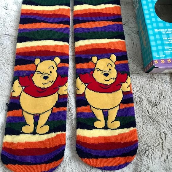 41376a6069cd Disney Winnie the Pooh Slipper Socks Grip Sole